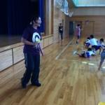 小学校で親子活動