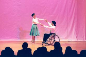 「車椅子ダンス」にも取り組んでいます
